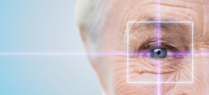 Picture of a older man's eye